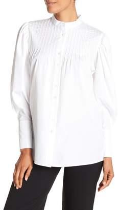 Diane von Furstenberg Long Sleeve Pin Tuck Shirt