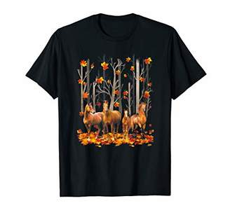 Maple Horse Leaf Fall Hello Autumn Funny Horse Lover T-Shirt