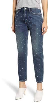 Current/Elliott The Vintage Studded High Waist Crop Slim Jeans