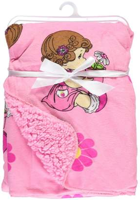 "Precious Moments Potted Flowers"" Microplush Blanket"