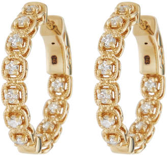 Neiman Marcus Diamonds 14k Diamond Illusion-Set Hoop Earrings
