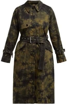 Proenza Schouler pswl Pswl - Pswl Tie Die Trench Coat - Womens - Black Multi