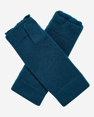 N.Peal Fur Lined Fingerless Cashmere Gloves