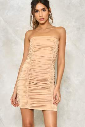 Nasty Gal A Step in the Tight Direction Ruched Dress