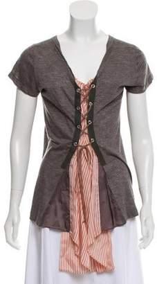 Sacai Lace-up Short Sleeves Top