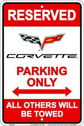 Hangtime MC80084 Corvette Parking sign 8 x12 inches red