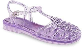 Jeffrey Campbell Gelly Crystal Embellished Sandal