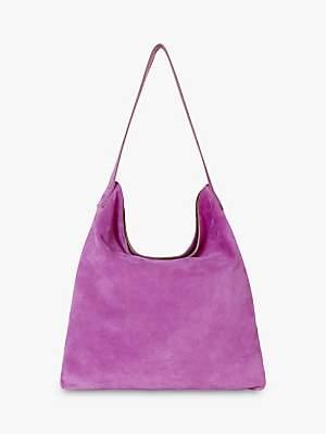 Gerard Darel Lady Suede Shoulder Tote Bag