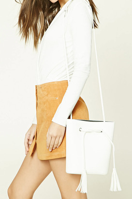 FOREVER 21+ Faux Leather Bucket Bag $24.90 thestylecure.com