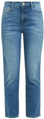 Frame Le Sylvie Straight Leg Cropped Jeans - Womens - Denim