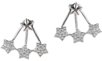Kenneth Jay Lane CZ By Pave CZ Front & Back Star Earrings