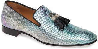 Christian Louboutin Rivalion Flat Spec Pointille Iridescent Tassel Loafer