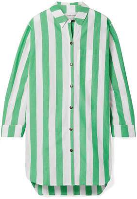 Mara Hoffman Bennet Oversized Striped Organic Cotton Shirt - Green