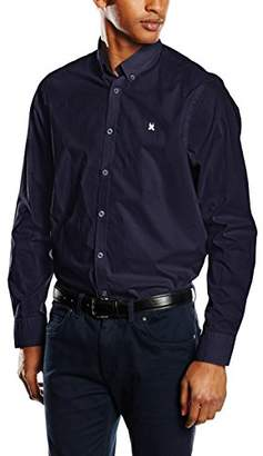 Gaastra Men's Regular Fit Long Sleeve Casual Shirt Blue Blau (Navy F40)