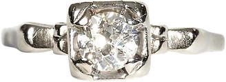 One Kings Lane Vintage 14K Gold Diamond Solitaire Ring - 2-b-Modern