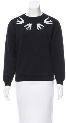 McQ by Alexander McQueen Sequin-Accented Crew Neck Sweater $175 thestylecure.com