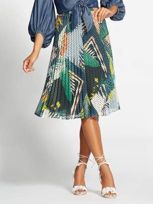 New York & Co. Gabrielle Union Collection - Print Perforated Skirt