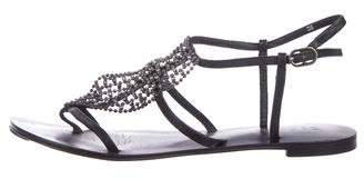 Barneys New York Barney's New York Leather Ankle Strap Sandals