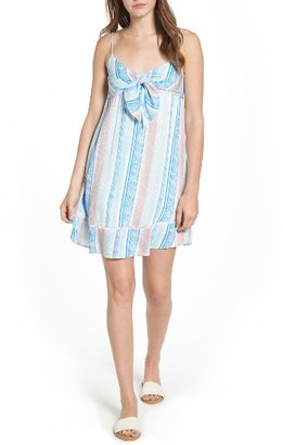 Women's Lush Tie Front Babydoll Dress $45 thestylecure.com