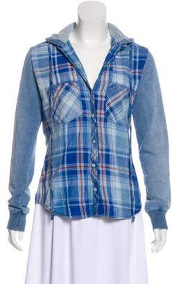 Bella Dahl Plaid Hooded Top