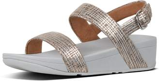 FitFlop Lottie Chain-Print Suede Back-Strap Sandals