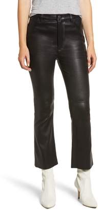 Current/Elliott The High Waist Kick Leather Pants