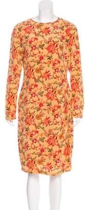 Ellen Tracy Linda Allard Silk Knee-Length Dress