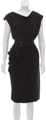 J. Mendel Silk Sleeveless Dress