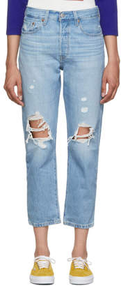 Levi's Levis Blue 501 Crop Jeans