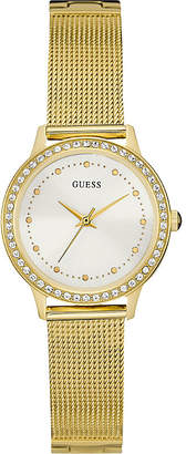 Guess W0647L7 Chelsea gold-plated stainless steel watch $129 thestylecure.com