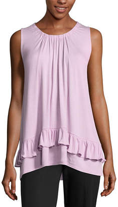 89TH AND MADISON 89th & Madison Sleeveless Peasant Top