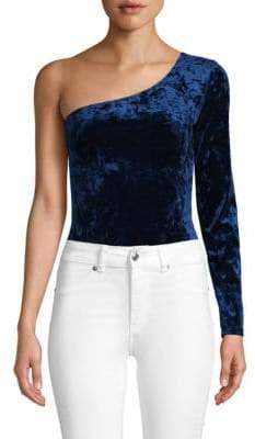 Mimichica One-Shoulder Velvet Bodysuit