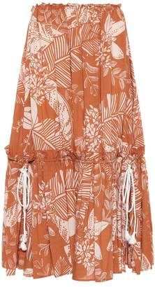 See by Chloe Printed cotton-blend midi skirt