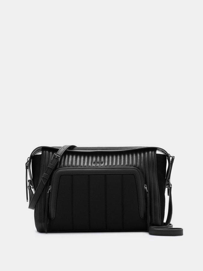 DKNYGansevoort Quilted Lamb Nappa Pinstripe Shoulder Bag
