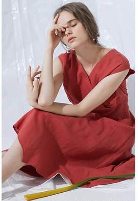 BODY DRESSING (ボディ ドレッシング) - 【52%OFF】プロポーション ボディドレッシング《BLANCHIC》麻サマーワンピースレディースオレンジ3【PROPORTION BODY DRESSING】【タイムセール開催中】