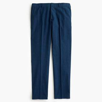 J.Crew Ludlow Slim-fit unstructured suit pant in blue cotton-linen
