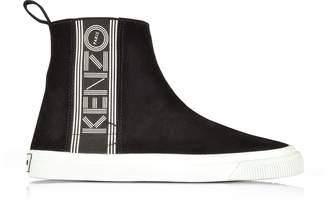 Kenzo Black Suede Kapri Slip-on High Top Women's Sneakers