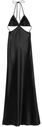 Alexander Wang Open-Back Cutout Satin Gown