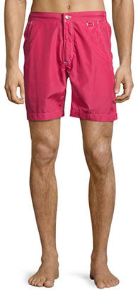 Peter Millar Excursionist Solid Swim Trunks $168 thestylecure.com