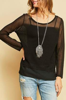 Entro Black Contrast Top