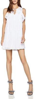 BCBGeneration Embroidered Ruffled Dress