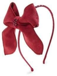 Bari Lynn Girl's Suede Bow Headband