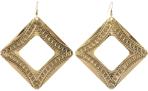 Square Tribal Earrings