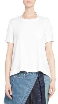 Sacai Back Pleat Flared Cotton Tee