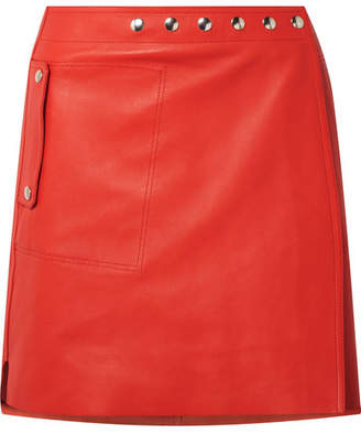 Acne Studios Shiryn Leather Wrap Mini Skirt - Red