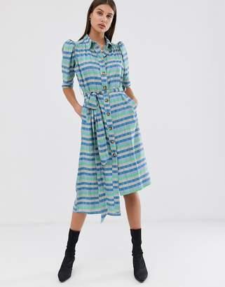 Asos stripe belted shirt dress