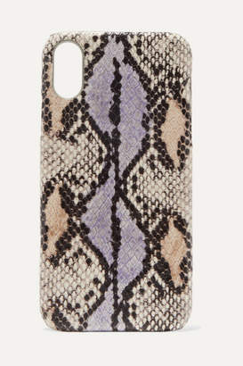 Factory The Case Snake-effect Leather Iphone Xr Case - Lilac