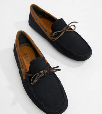 DESIGN Wide Fit Driving Shoes In Black Suede With Snaffle - Black Asos 1J9sxJXe