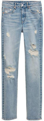 H&M Straight High Jeans - Blue