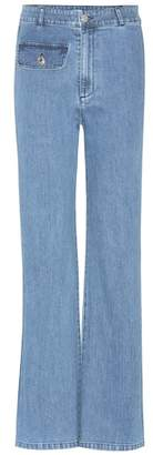 See by Chloe Flared stretch-cotton jeans